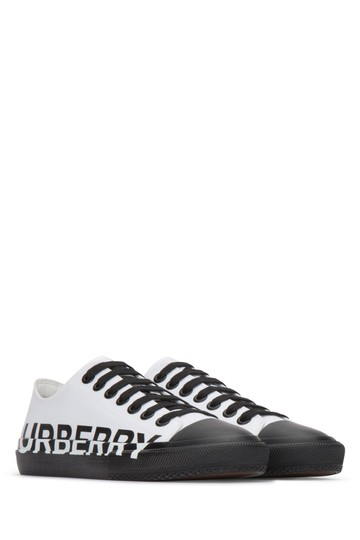 Burberry Sneakers Sandals Black & White Athletic Image 1