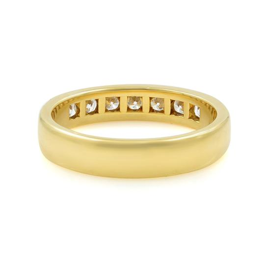 Gavriel's Jewelry Channel Set Solid Gold Round Diamond Wedding Anniversary Band Ring Image 1