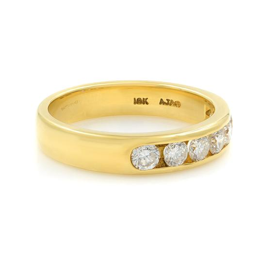 Gavriel's Jewelry Channel Set Solid Gold Round Diamond Wedding Anniversary Band Ring Image 2