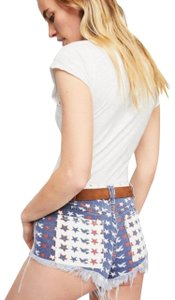Free People Cut Off Shorts New Red White & Blue