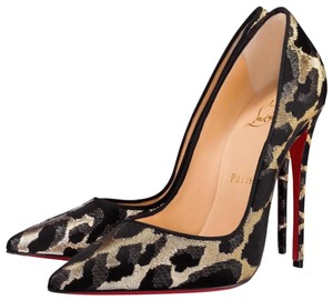 Christian Louboutin So Kate Animal Print Metallic Lurex Multicolor Pumps