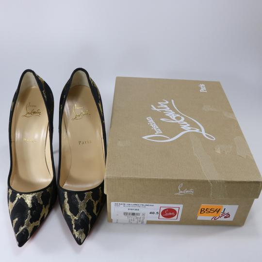 Christian Louboutin So Kate Animal Print Metallic Lurex Multicolor Pumps Image 1