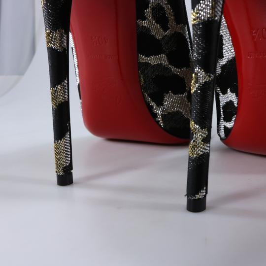 Christian Louboutin So Kate Animal Print Metallic Lurex Multicolor Pumps Image 6