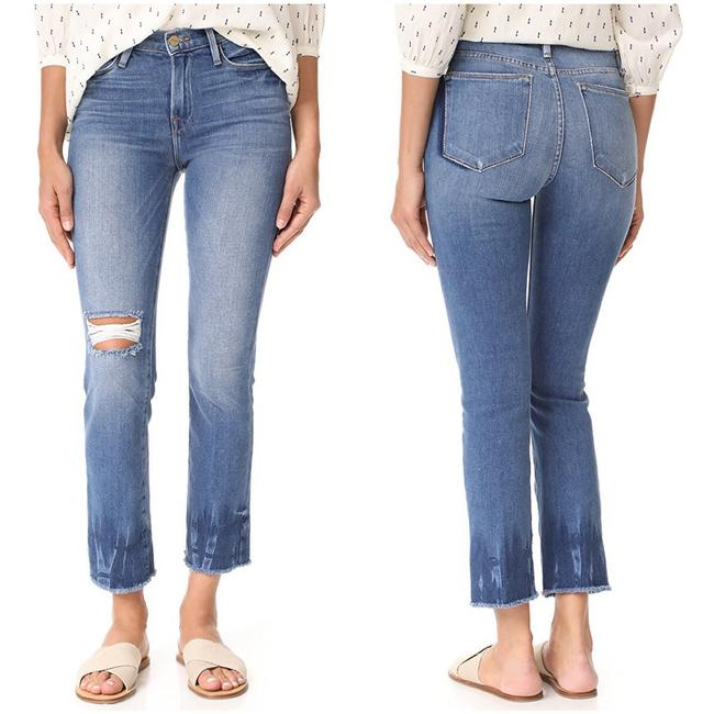 FRAME Straight Leg Jeans-Distressed Image 1