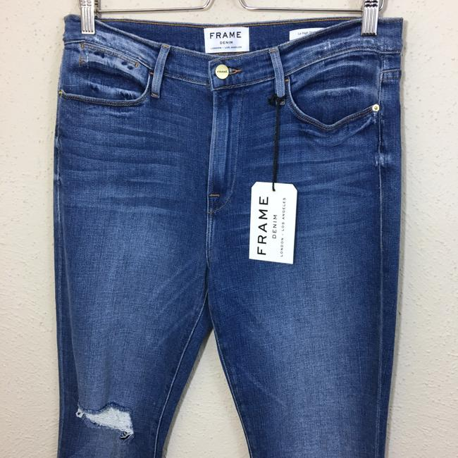 FRAME Straight Leg Jeans-Distressed Image 4