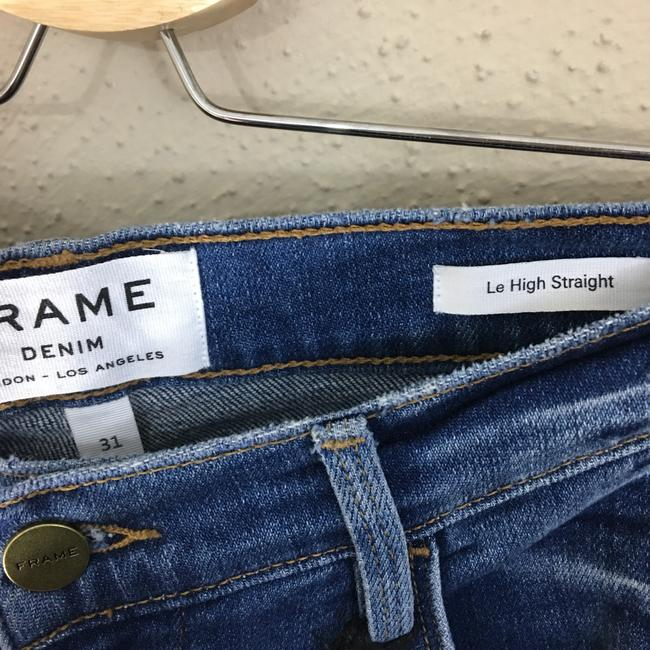 FRAME Straight Leg Jeans-Distressed Image 5