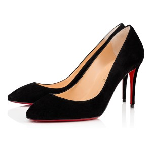 Christian Louboutin So Kate Nude Patent Patent Leather Black Pumps