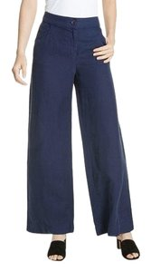 Eileen Fisher Wide Leg Pants Blue