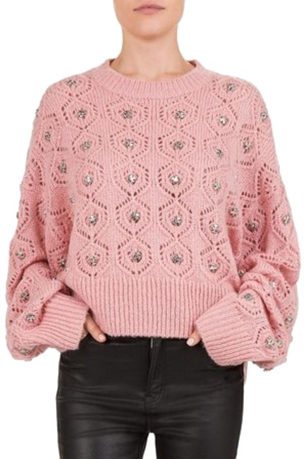 Preload https://img-static.tradesy.com/item/25374034/the-kooples-embellished-batwing-pink-sweater-0-1-650-650.jpg