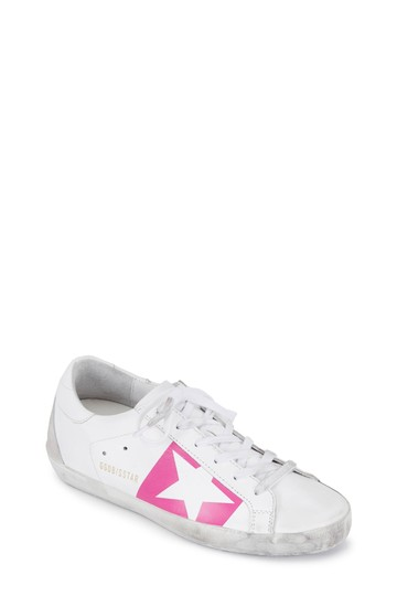 Preload https://img-static.tradesy.com/item/25374301/golden-goose-deluxe-brand-white-classic-superstar-leather-off-white-distressed-pink-strip-lace-up-sn-0-1-540-540.jpg