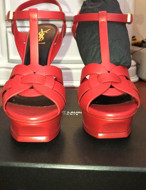 Saint Laurent Red Tribute Ysl These Have Never Been Worn and Are In Great Condition. Platforms Size EU 39.5 (Approx. US 9.5) Regular (M, B) Saint Laurent Red Tribute Ysl These Have Never Been Worn and Are In Great Condition. Platforms Size EU 39.5 (Approx. US 9.5) Regular (M, B) Image 2