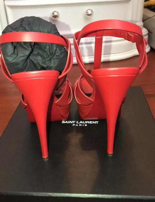 Saint Laurent Red Tribute Ysl These Have Never Been Worn and Are In Great Condition. Platforms Size EU 39.5 (Approx. US 9.5) Regular (M, B) Saint Laurent Red Tribute Ysl These Have Never Been Worn and Are In Great Condition. Platforms Size EU 39.5 (Approx. US 9.5) Regular (M, B) Image 4