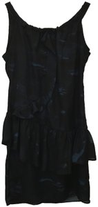 Simply Vera Vera Wang short dress Blue Sleeveless Ruffle Detail Size 8 M Medium New With Tags on Tradesy