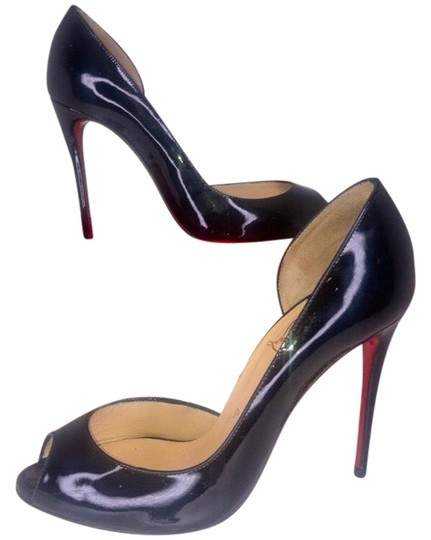 Preload https://img-static.tradesy.com/item/25374370/christian-louboutin-black-demi-you-half-d-orsay-peep-toe-red-pumps-size-eu-365-approx-us-65-regular-0-1-540-540.jpg