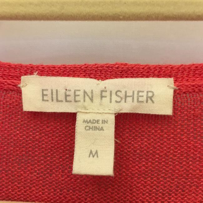 Eileen Fisher Organic Linen V-neck Short Sleeve Size M Medium 8-10 Sweater Image 2