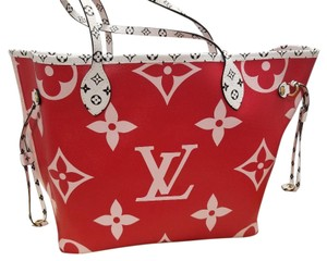 Louis Vuitton Giant Neverfull Giant Summer 2019 Neverfull Limited Ed Limited Edition Tote in Rouge