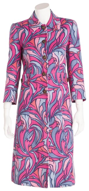 Preload https://img-static.tradesy.com/item/25374405/dolce-and-gabbana-blue-and-pink-coat-size-4-s-0-1-650-650.jpg