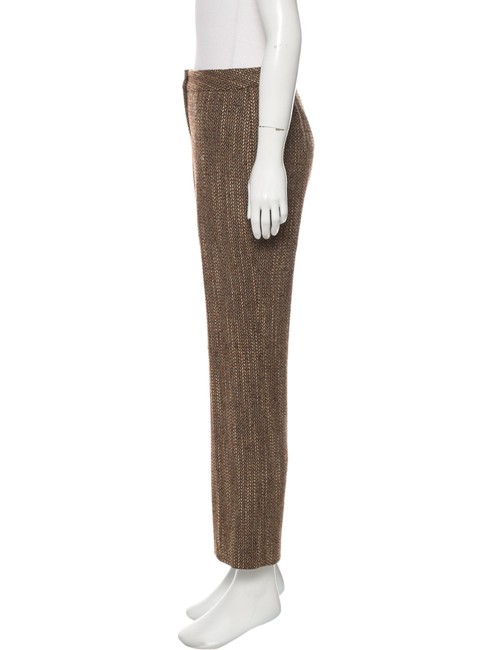 Lafayette 148 New York Tweed Cropped Ankle Length Wide Leg Pants Brown Image 1