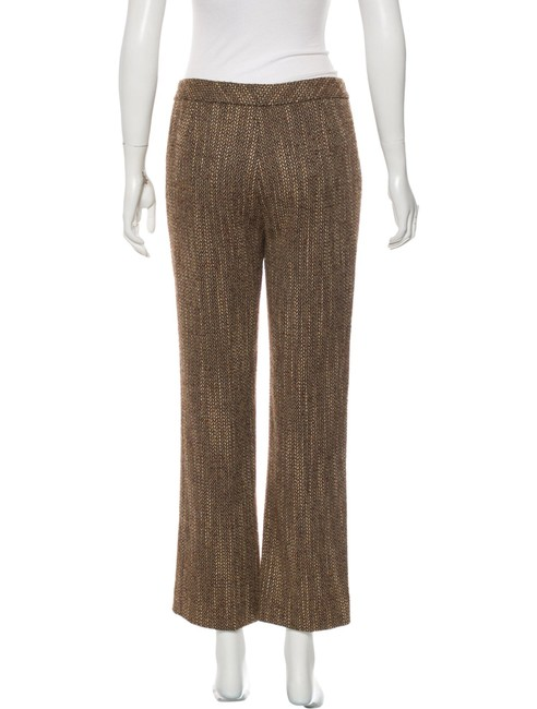 Lafayette 148 New York Tweed Cropped Ankle Length Wide Leg Pants Brown Image 2