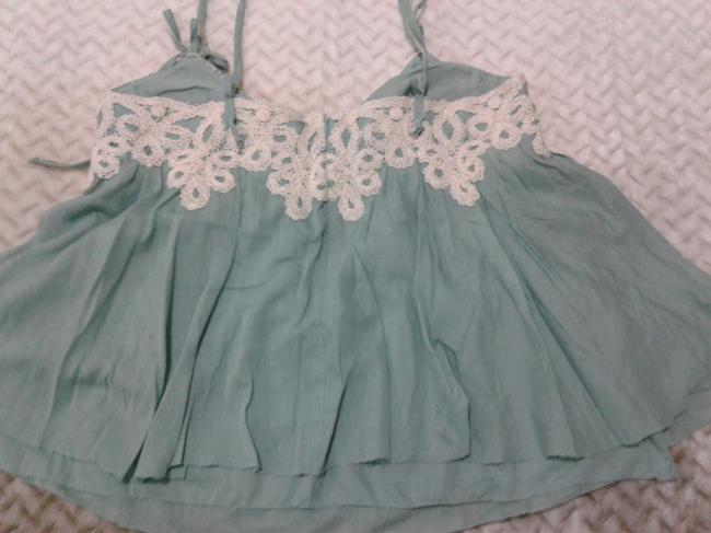 Robert Rodriguez Loose Airy Cotton/Silk New Made In China Top turquoise Image 1
