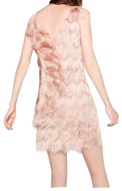 Preload https://img-static.tradesy.com/item/25374460/zara-pink-mauve-fringe-shift-mid-length-cocktail-dress-size-4-s-0-1-650-650.jpg