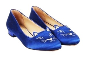 Charlotte Olympia Blue Flats