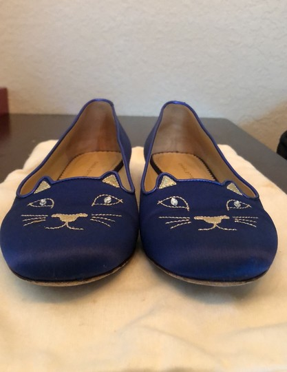 Charlotte Olympia Blue Flats Image 2
