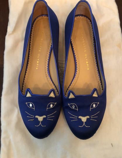 Charlotte Olympia Blue Flats Image 3