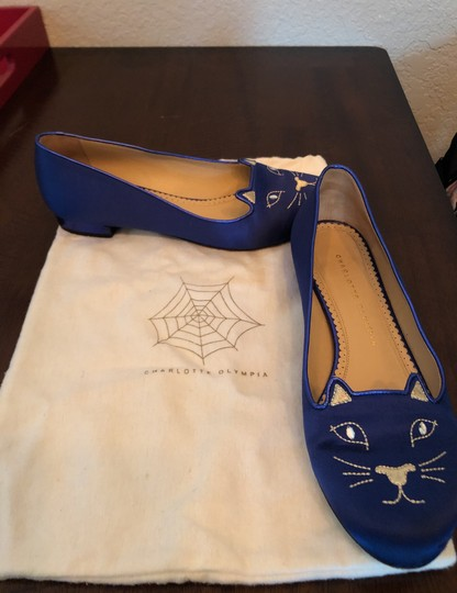 Charlotte Olympia Blue Flats Image 6