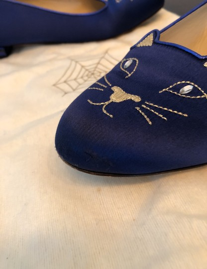 Charlotte Olympia Blue Flats Image 7