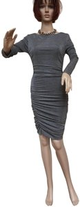 Vince Camuto Ruched Bodycon Ruched Metalic Dress