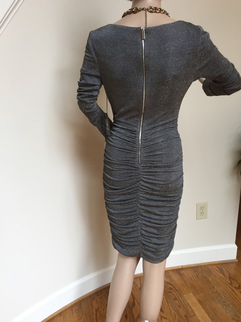 Vince Camuto Ruched Bodycon Ruched Metalic Dress Image 3