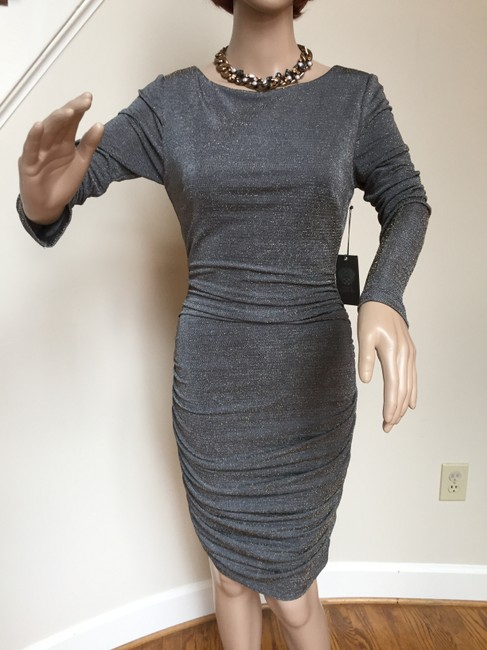 Vince Camuto Ruched Bodycon Ruched Metalic Dress Image 8