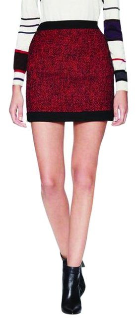 Preload https://img-static.tradesy.com/item/25374485/love-moschino-red-tweed-banded-skirt-size-8-m-29-30-0-1-650-650.jpg
