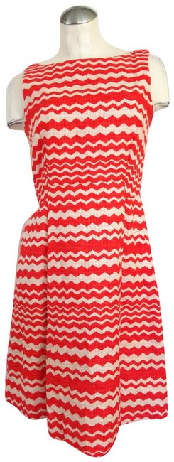 Preload https://img-static.tradesy.com/item/25374489/taylor-orange-tan-sleeveless-mid-length-workoffice-dress-size-8-m-0-2-650-650.jpg