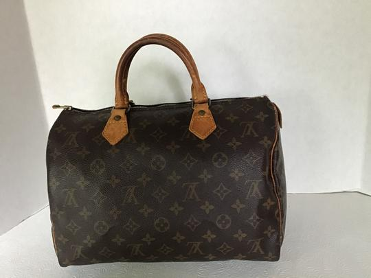 Louis Vuitton Speedy Monogram Lock & Key Dust Vintage Satchel in Brown Image 1