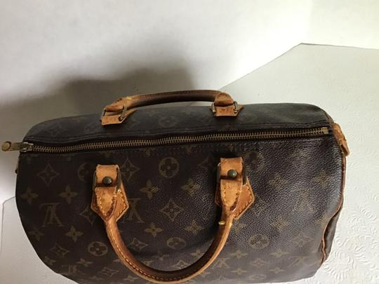 Louis Vuitton Speedy Monogram Lock & Key Dust Vintage Satchel in Brown Image 3