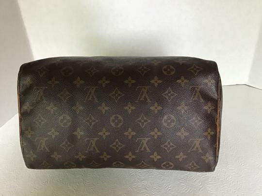 Louis Vuitton Speedy Monogram Lock & Key Dust Vintage Satchel in Brown Image 5
