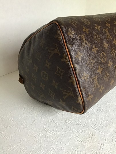 Louis Vuitton Speedy Monogram Lock & Key Dust Vintage Satchel in Brown Image 6