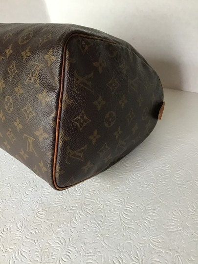Louis Vuitton Speedy Monogram Lock & Key Dust Vintage Satchel in Brown Image 7