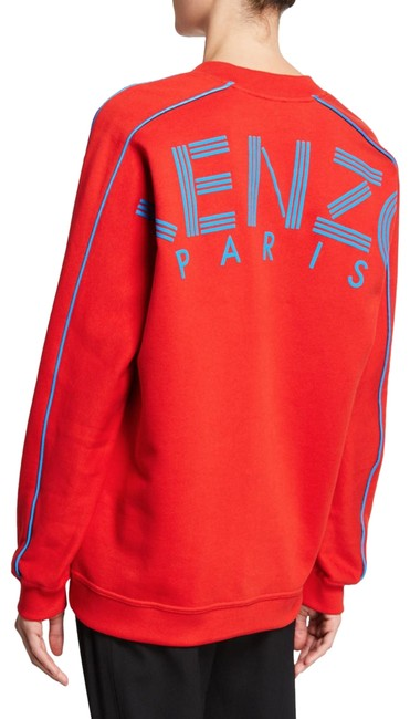 Preload https://img-static.tradesy.com/item/25374562/kenzo-red-oversized-v-neck-logo-pullover-sweatshirthoodie-size-2-xs-0-1-650-650.jpg