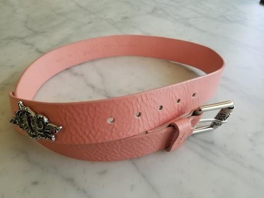 Love Moschino Love Moschino Pink Leather Belt Vintage Silver Hardware Image 1