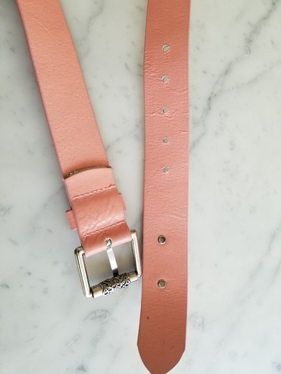 Love Moschino Love Moschino Pink Leather Belt Vintage Silver Hardware Image 4