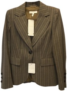 Escada Jacket Wool Blend Lined Size 6 S Small New With Tags Brown Blazer