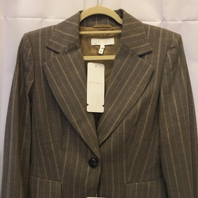 Escada Jacket Wool Blend Lined Size 6 S Small New With Tags Brown Blazer Image 1