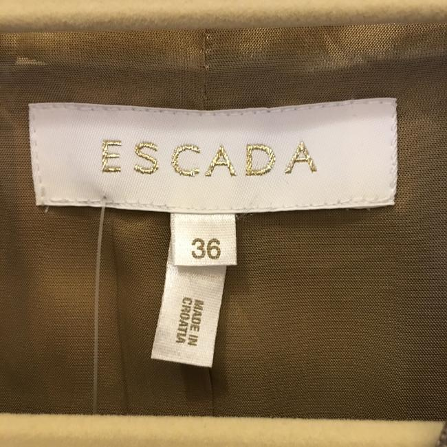 Escada Jacket Wool Blend Lined Size 6 S Small New With Tags Brown Blazer Image 2