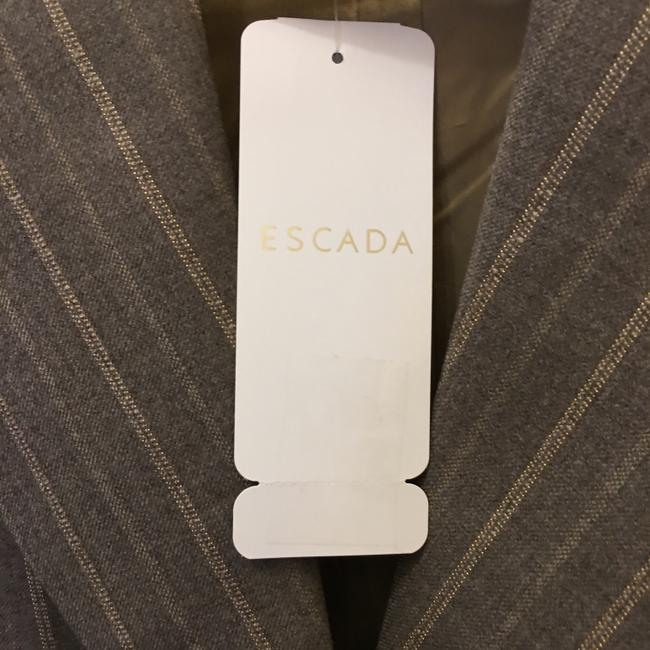 Escada Jacket Wool Blend Lined Size 6 S Small New With Tags Brown Blazer Image 3