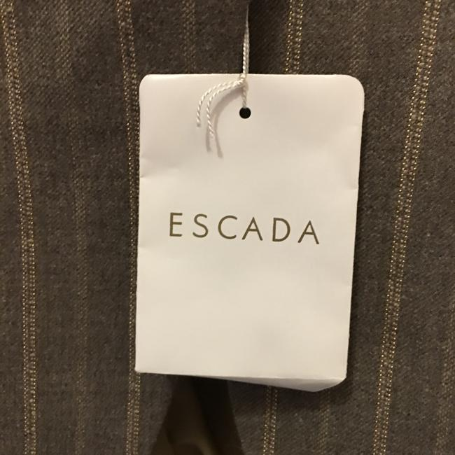 Escada Jacket Wool Blend Lined Size 6 S Small New With Tags Brown Blazer Image 5