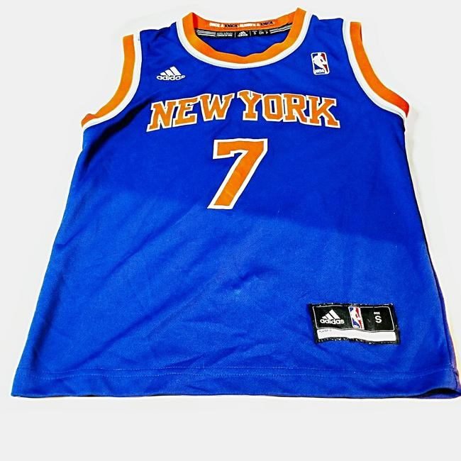 Preload https://item2.tradesy.com/images/adidas-blue-and-orange-children-s-around-10-to-12-years-of-age-knicks-jersey-tee-shirt-size-4-s-25374646-0-0.jpg?width=400&height=650