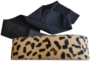 Love Moschino Love Moschino Leopard Cow Hair Leather Belt